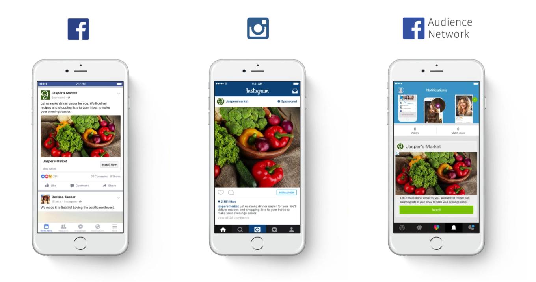 Creare una campagna Facebook, Instagram e Audience Network