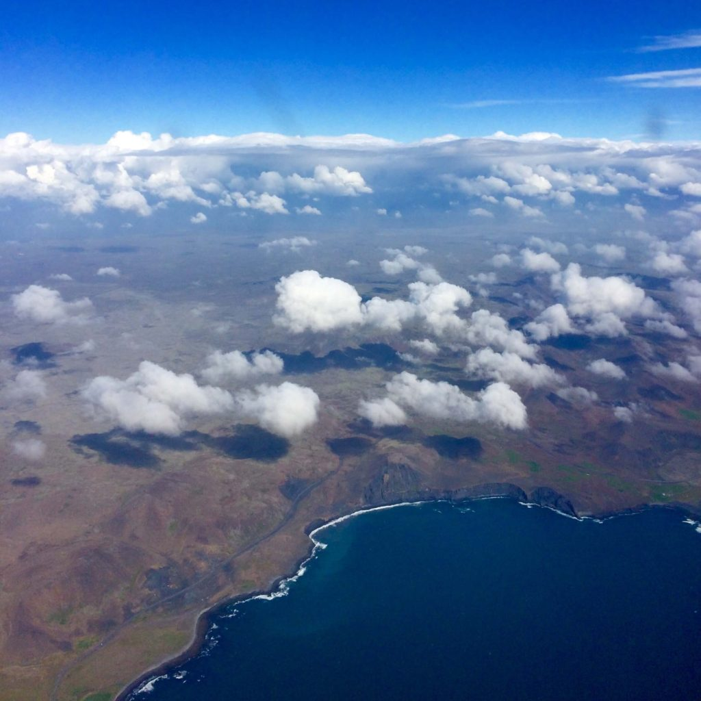 La vista che vi accoglie dall'aereo