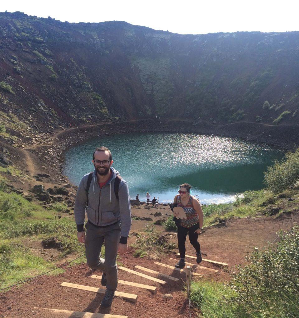 Nel cratere Kerið